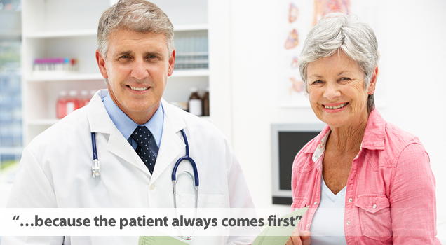 Because the patient always comes first